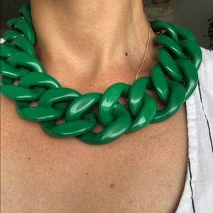 COPY - Green Oversized Chain Necklace
